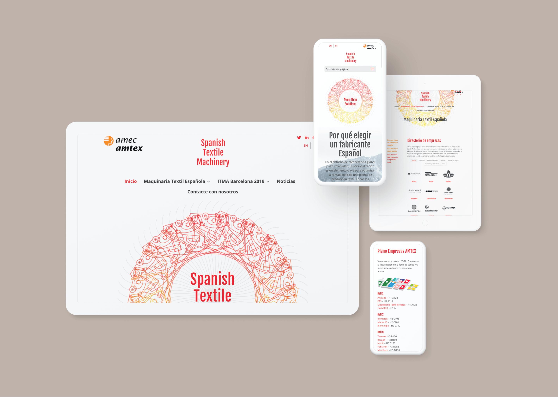 Web responsive ITMA Barcelona 2019 | Ideamatic