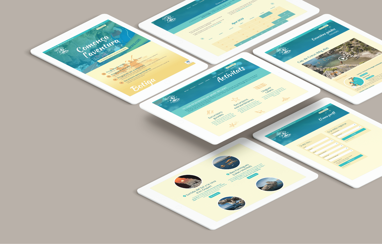Web responsive kayaking Costa Brava | Ideamatic