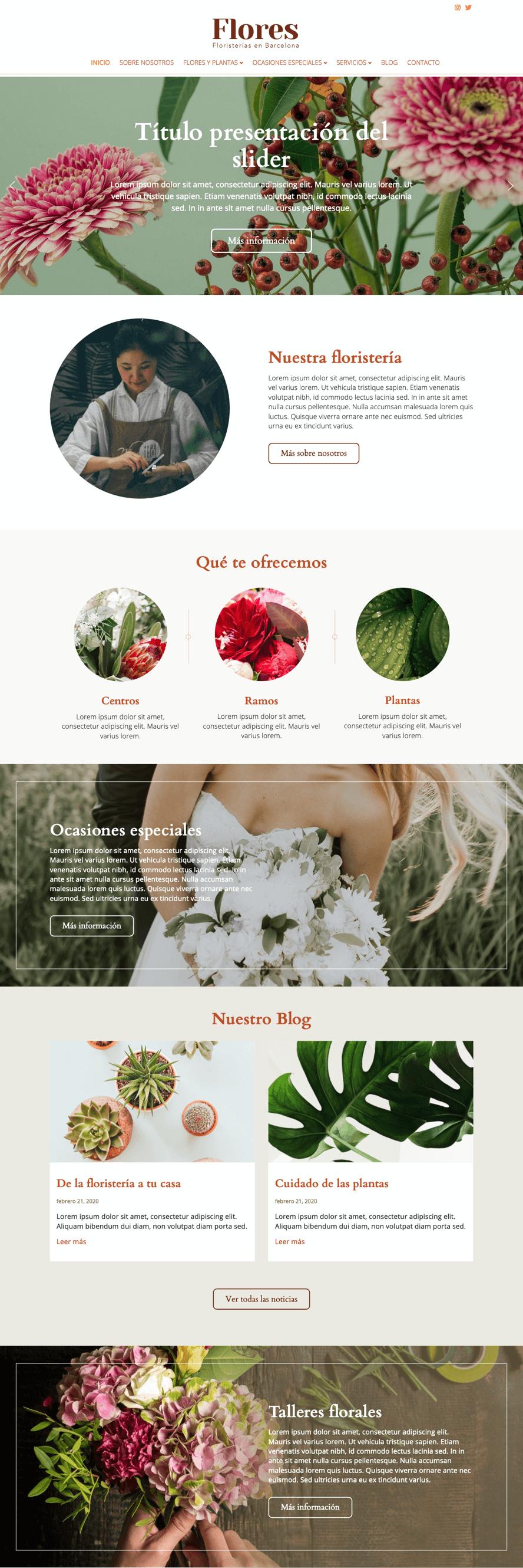 webs Gremi floristes - Ideamatic