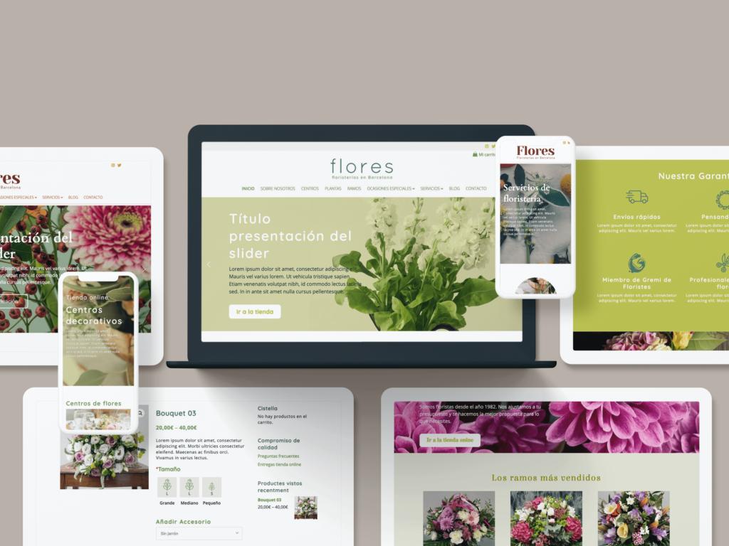 Pantallas webs gremi floristes - Ideamatic