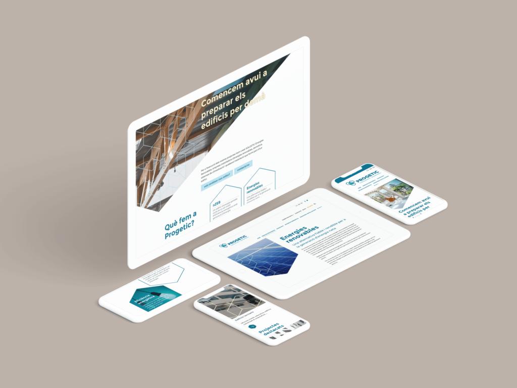 Web Progetic y Solgetic versión responsive | Ideamatic